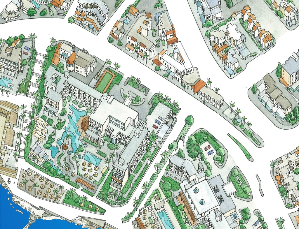 outstanding-illustrated-maps-of-paphos_03-pingouinos-close