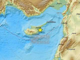 Earthquake measuring 5 felt all over Cyprus