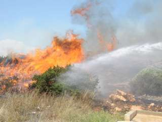 Emergency services battle to control Paphos fire