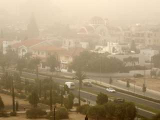 High dust levels in Paphos and Limassol, rain expected later (updated)