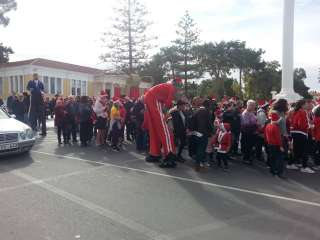 Hundreds take part in annual Paphos Santa Run event