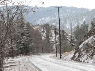 Mountain roads closed by snow
